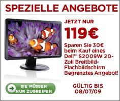 """20"""" Breitbild Monitor Dell S2009W für 119€"""
