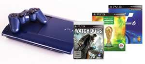 PlayStation 3 (500 GB) + Watch Dogs + Gran Turismo 6 + FIFA WM 2014 für 299 € - 16% sparen