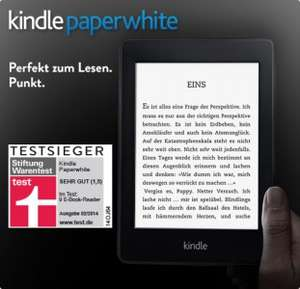 Amazon Kindle Paperwhite (2013) um 99 € - bis zu 10% sparen