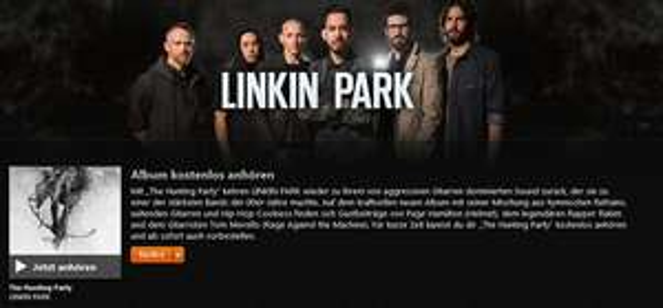 "iTunes: Das neue Linkin Park Album ""The Hunting Party"" kostenlos streamen"