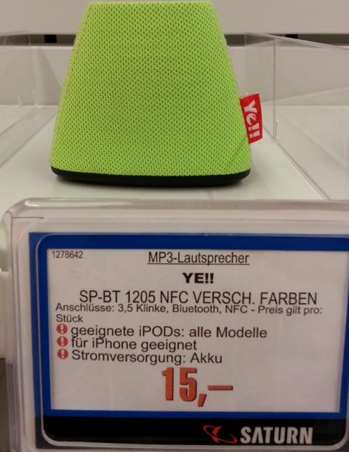 Silva YE!! SP-BT 1205 (Bluetooth, NFC) in allen Farben um 15 € - bis zu 50% sparen