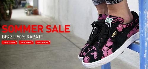 Puma: Sommer Sale 2014 mit bis zu 50% Rabatt *Update* ab 50 € weitere 10 € sparen!