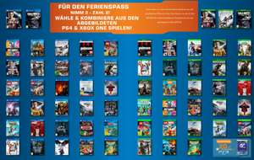 Saturn: auf ausgewählte PS4 und XBox One Spiele: nimm 3, zahl 2 - bis zu 59,90 € sparen