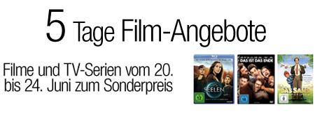5 Tage Film-Angebote bei Amazon mit günstigen DVDs und Blu-rays