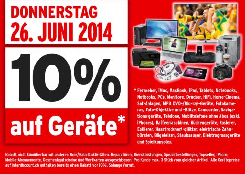 Für Grenzgänger: 10% Rabatt auf Geräte bei Interdiscount – z.B. Nikon D3300 Kit AF-S 18-55mm VR II für 369 €