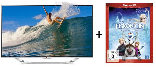 """LG 42LA7408 (3D, WLAN, Triple-Tuner, Smart TV) + 3D Blu-ray """"Die Eiskönigin"""" für 499 €"""