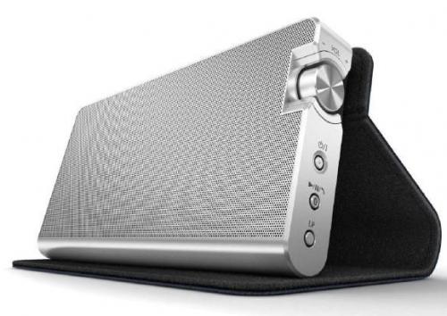 Panasonic Bluetooth-Lautsprecher mit NFC inkl. Ledertasche für 79 € - 30% Ersparnis