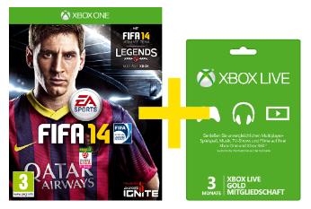 Xbox One: Fifa 2014 + 3 Monate Xbox Gold-Mitgliedschaft um 38 € - 46% sparen