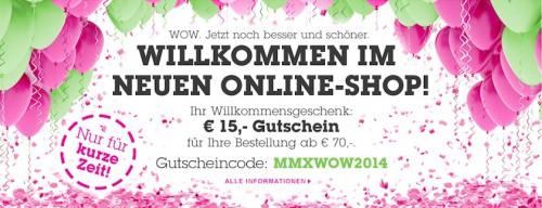 15 € Sofortrabatt mit Gutscheincode, ab 70 € Bestellwert bei Mömax