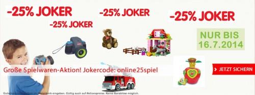 25% Gutscheincode für den Interspar-Onlineshop Spielwaren (auch Aktionsware!) - bis zu 63% Ersparnis