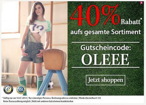 40% Gutscheincode auf bereits 50% Sale-Artikel bei Fashion5