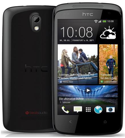 """HTC Desire 500 schwarz (8 MP, 4,3"""" Display, Android Jelly Bean) um 168 € - bis zu 11% sparen"""