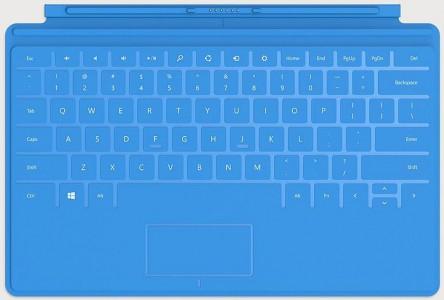 """Microsoft """"Touch Cover"""" für Surface Tablets (blau) um 44 € - bis zu 42% sparen"""