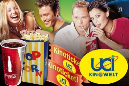 5 Kinogutscheine für UCI Kinos (inkl Überlänge, exkl 3D) um 28 € - bis zu 50% sparen