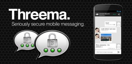 """""""Threema"""" (What'sApp Alternative) für Android, iOS, Windows Phone - um 0,99 € - bis 25.6.2015 - 50% sparen"""