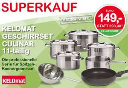 Kelomat Geschirrset Culinar im Interspar Online-Shop um 149 € - 29% Ersparnis