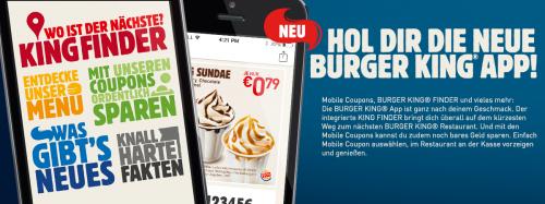Gutschein-App für Burger King Österreich – gültig bis 31.7.2015