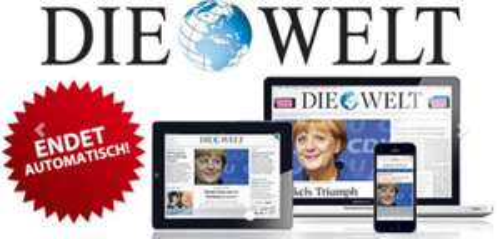 DIE WELT digital komplett kostenlos für 2 Monate - kein Abo - selbstkündigend