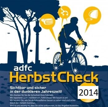 ADFC Herbst-Checks 2014: gratis Fahrrad Check und Codierung in Berlin - am 27.09.2014