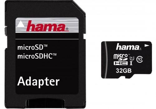 Hama microSDHC 32GB Speicherkarte mit SD-Adapter (UHS-I, 45MB/s) um 21,99 € - bis zu 28% sparen