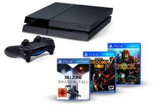 Playstation 4 Bundle: Konsole + Killzone: Shadow Fall + inFamous Second Son + Knack um 399 € - bis zu 17% sparen