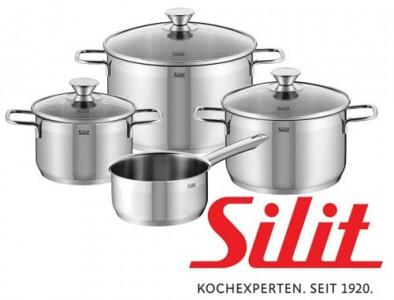 """Silit - 4-teiliges Kochtopfset """"Pisa"""" um 55 € - 50% sparen"""