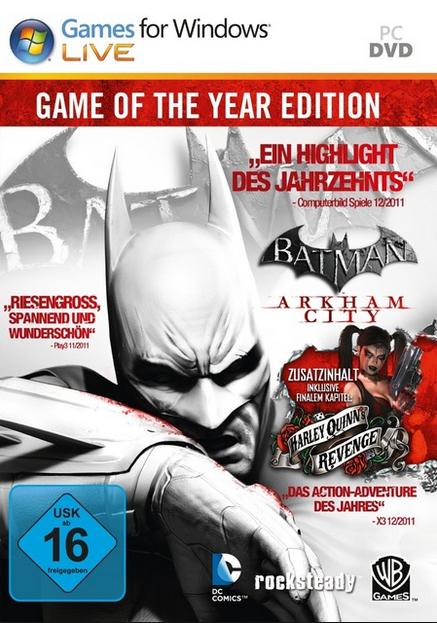 Batman Arkham City Game of the Year Edition für Steam um 4,99 € - 61% Ersparnis
