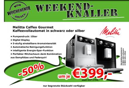 """Melitta Caffeo Gourmet """"E965-101"""" Kaffeevollautomat in silber um 399 € - 14% sparen"""