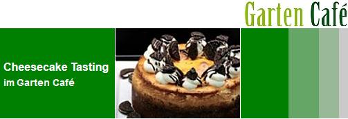 Marriotts: gratis Cheesecake Tasting im hauseigenen Garten Café - am 27.09.2014 - 5,90 €/Stück sparen