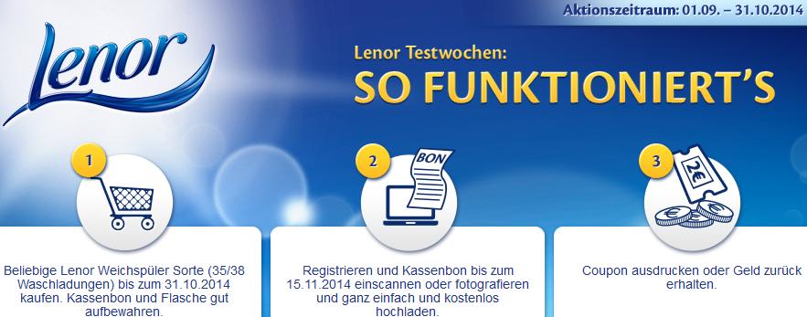 Lenor Weichspüler: Dank Cashback gratis testen - rund 3,99 € sparen