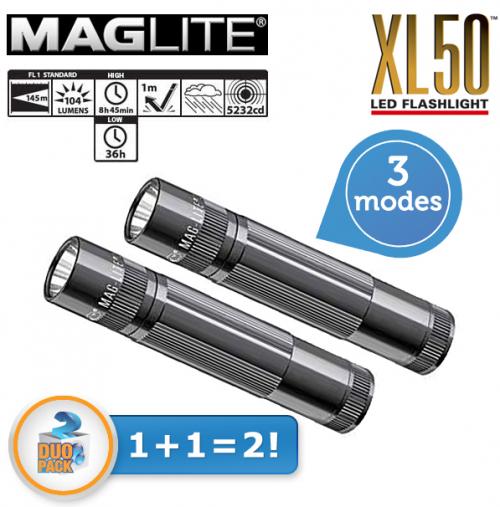 2 x MAGLite XL50 Taschenlampe um 35,90 € - 47% Ersparnis