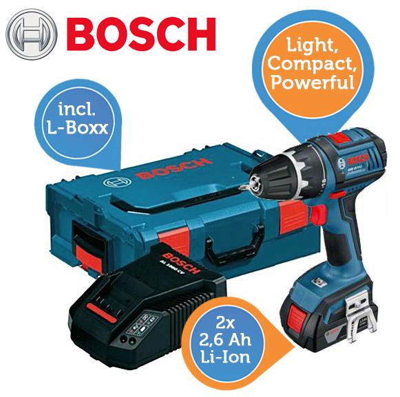 Bosch GSR 18 V-LI Professional Akku-Bohrschrauber & 2. Akku & L-Boxx um 208,90 € - 19% Ersparnis