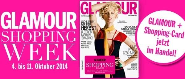 [Top] Glamour Shopping Week - Rabatte bei 153 Unternehmen - vom 4. bis 11.Oktober 2014