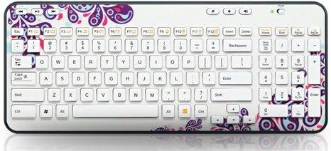 """Logitech """"K360"""" Funk-Tastatur """"White Paisley"""" inkl Unifying-Empfänger ab 9,95 € - bis zu 67% sparen"""