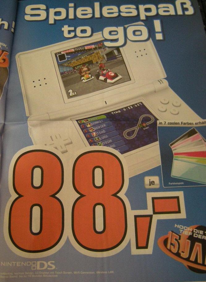 Saturn Österreich: Nintendo DS um 88€ uvm.