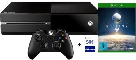 Xbox One + Destiny Bundle + 50 € Store Gutschein um 399,99 € - zumindest 11% sparen