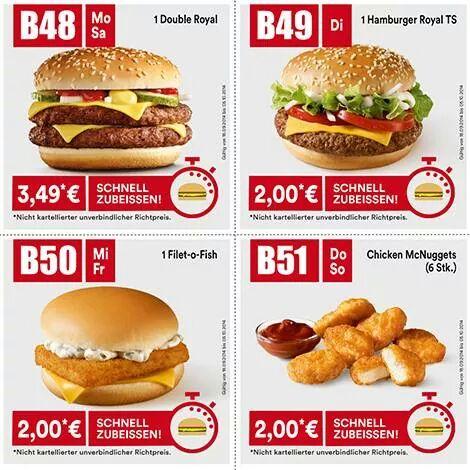 Neue McDonald's Tagesgutscheine für Österreich (täglich)