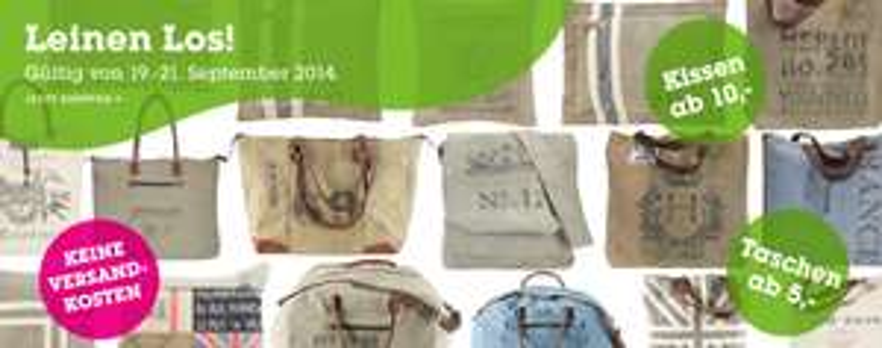 Mömax: Leinen-Taschen uvm ab 5 € inkl Versand - bis zu 85% sparen