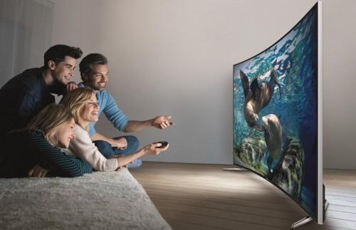 """Samsung """"UE55HU7100"""" Curved LED-TV (55"""" Ultra HD, 800Hz, WLAN, BT) um 1299 € - bis zu 18% sparen"""