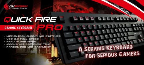 """CM Storm """"Quick Fire Pro"""" Gaming Tastatur um 49,90 € - bis zu 26% sparen"""