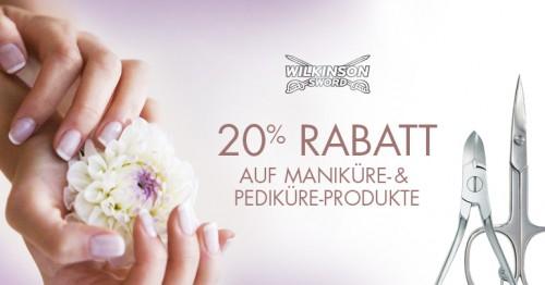 Amazon: 20% auf Wilkinson Sword Hand- und Fußpflege Produkte
