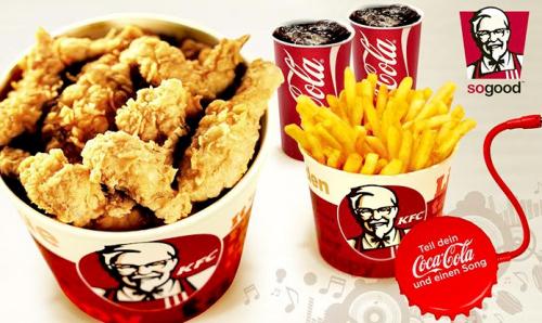Kentucky Fried Chicken - 30 Wings + Pommes + Cola + Music Splitter für 2 Personen um 12,90 € - 33% sparen