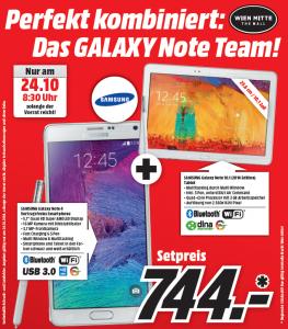 """""""Samsung Note 4"""" + """"Samsung Note 10.1"""" um 744 € - nur am 24.10.2014 - 41% sparen"""
