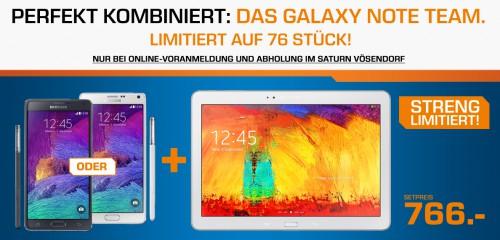 """TOP! """"Samsung Note 4"""" + """"Samsung Note 10.1"""" um 744 € für die ersten 76 Anmelder (schnell!)"""