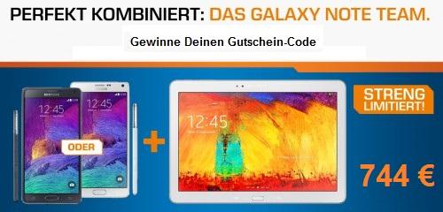 """Gewinnspiel - """"Samsung Note 4"""" + """"Samsung Note 10.1"""" um 744 € - Dein Code für Saturn Wien SCS"""