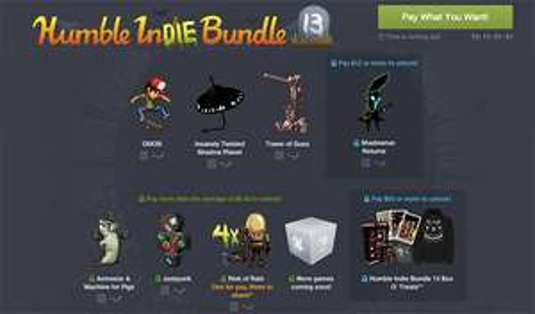 The Humble Bundle 13 mit Indie-Spielen ab 0,01 $