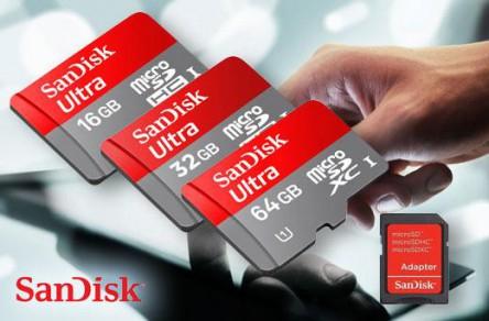 "SanDisk ""Ultra"" microSDHC inkl Adapter - 64GB für 20,16€ bei Amazon"