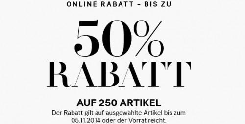 H&M: Sale mit bis zu 50% Rabatt + 25% Rabatt auf einen Wahlartikel