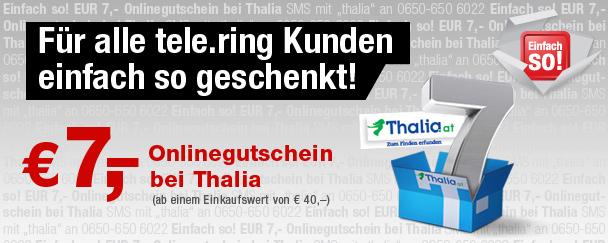 """7 € Thalia.at Gutschein für alle """"tele.ring"""" Kunden"""