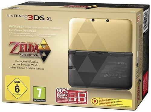 Nintendo 3DS XL Gold + Zelda: A Link Between Worlds (Ltd. Edition) für 192 € *Update* 13% sparen